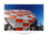 Fondation Louis Vuitton colorized by Daniel Buren 1