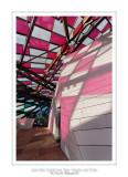 Fondation Louis Vuitton colorized by Daniel Buren 10