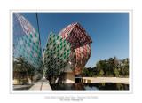 Fondation Louis Vuitton colorized by Daniel Buren 11