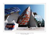 Fondation Louis Vuitton colorized by Daniel Buren 28