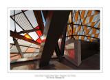 Fondation Louis Vuitton colorized by Daniel Buren 39