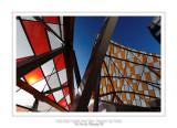 Fondation Louis Vuitton colorized by Daniel Buren 42