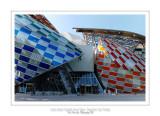 Fondation Louis Vuitton colorized by Daniel Buren 44