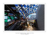 Fondation Louis Vuitton colorized by Daniel Buren 45