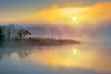 Foggy Rideau Canal Sunrise 20130518