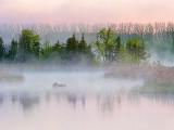 Misty Otter Creek At Sunrise DSCF02428