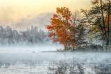 Misty Lower Rideau Lake At Sunrise DSCF06679