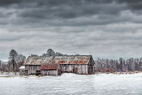 Barn Beyond Icy Pasture 20140112