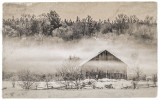 Barn In Mist 41359-60vs01