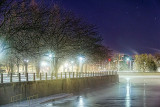 Misty Canal Basin At Night 20140124