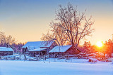 Rustic Farm In Winter Sunrise 20140210