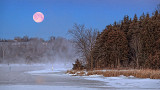 Moon Over Rideau Canal At Dawn 20140317