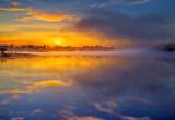 Misty Rideau Canal Sunrise P1040427-9