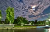 Moonlit Departing Clouds 20140614