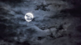 Clouded Perigee Moon 20140713