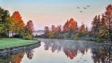 Canal In Autumn Sunrise 20140927