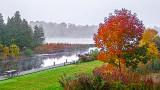 Foggy Autumn Canal 20141002