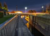 Combined Lock At Night P1020036-7
