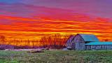 Two Barns At Sunrise 20141103