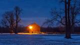 Red Barn At Dawn P1030074-5