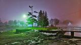 Turtle Island Dock Light On A Foggy Night 20141123