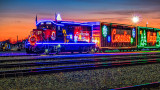 CP Holiday Train 2014 At Sunrise 20141129