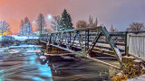 Confederation Drive Bridge At Night 20150104