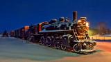 Snowy CN Engine 1112 At Dawn (20150130)