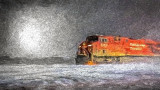 Canadian Pacific 8707 In Snowstorm 'Art' 45277