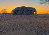 Decaying Barn At Sunrise P1100219-21