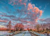 Large Cloud At Sunrise DSCF19349-51