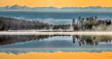 Otter Lake Reflection At Sunrise DSCF01041-3