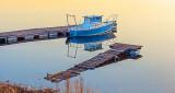 Little Blue Boat At Sunrise P1110630-2