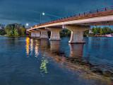 Rideau Ferry Bridge At Dawn P1130795