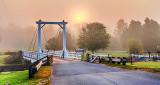 Kilmarnock Bridge In Foggy Sunrise 45792-4