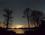 Otter Lake Boat Launch At Night 46228