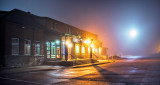 Station Theatre On A Foggy Night 47878-80
