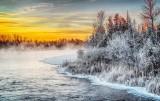 Frosty Shoreline At Sunrise P1010566-8
