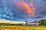 Old Log Barns At Sunrise P1090056-8