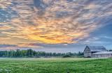 Barn In Clouded Sunrise P1100938-40