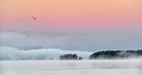 Distant Fog On Upper Rideau Lake P1110315