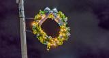 Light Pole Holiday Wreath P1160109-11