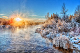 Frosty Rideau River Sunrise DSCN02310-2