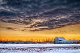 Winter Barn Under Ominous Cloud P1170287-91