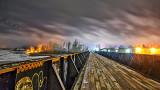 Decommissioned Railway Bridge At Night P1170598