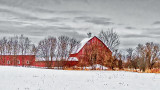 Red Barn In Winter P1170766-8