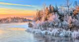 Frosty Rideau River At Sunrise DSCN02286-8