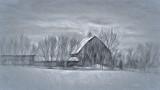 Barn In Winter P1170766-8 Art