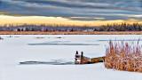 Frozen Swale At Sunrise P1170656