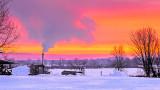 Smoking Smokehouse At Sunrise P1180134-9A